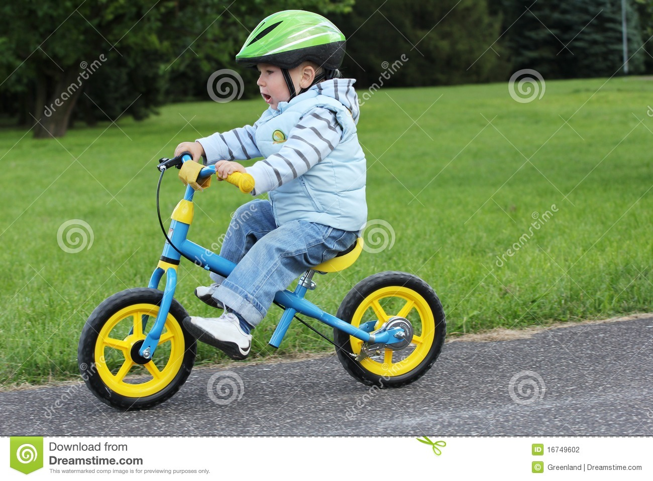 learning to ride on a first bike stock photo 16749602 megapixl