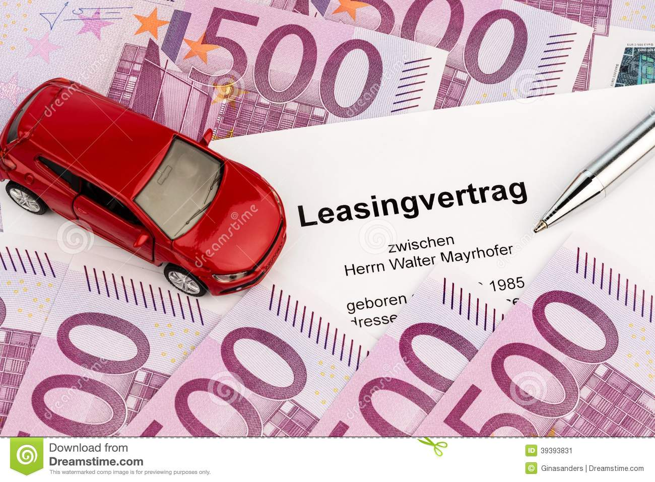 Lease agreement for new car