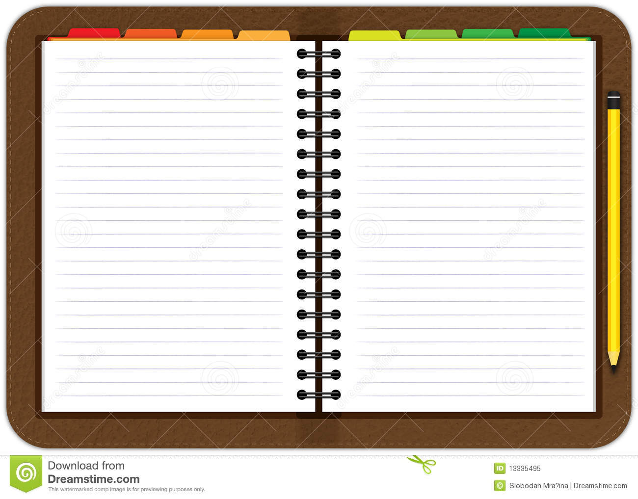 Office Space Planner Leather Agenda Notebook Royalty Free Stock Photo Image
