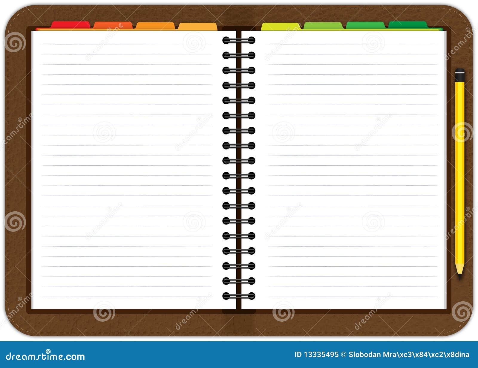 Leather Agenda Notebook Stock Illustration Image Of