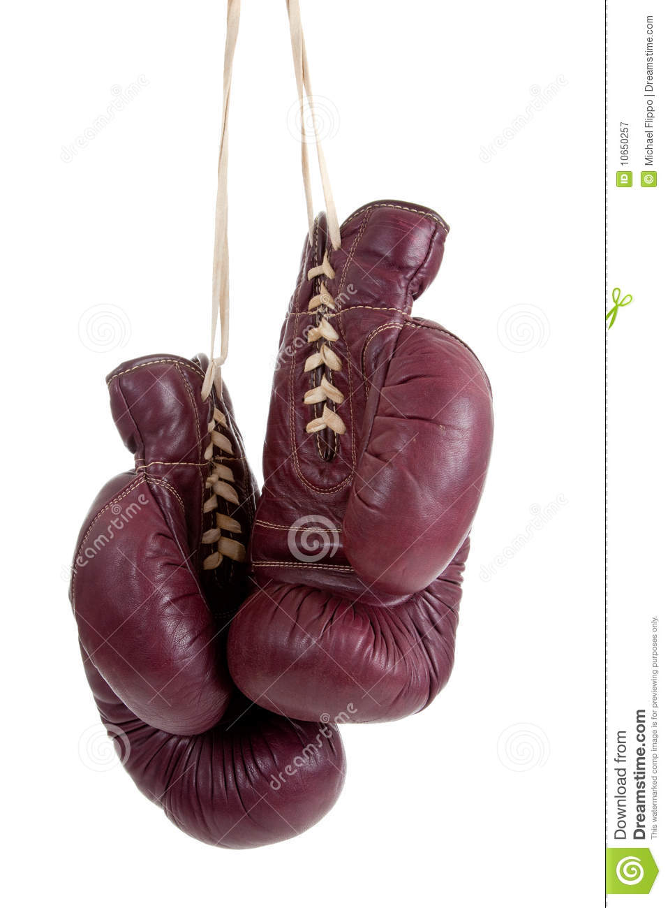 Leather Antique Boxing Gloves Royalty Free Stock