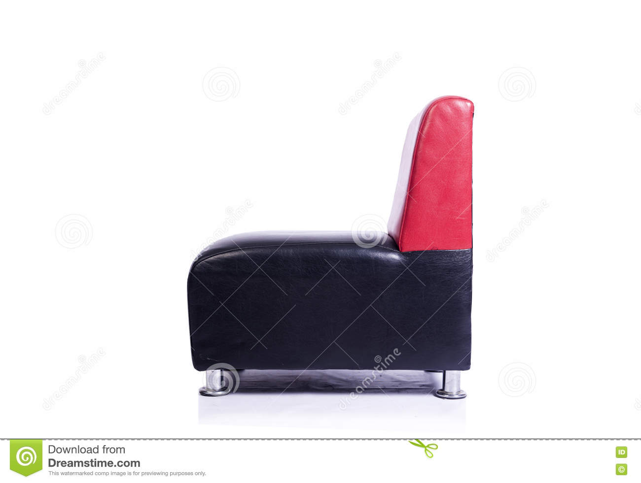 Red And Black Leather Stool Stock Image CartoonDealer  : leather arm chair isolated white background 73712121 from cartoondealer.com size 1300 x 981 jpeg 54kB
