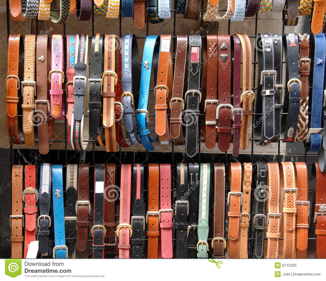 leather belts in the store stock photo image 6715320