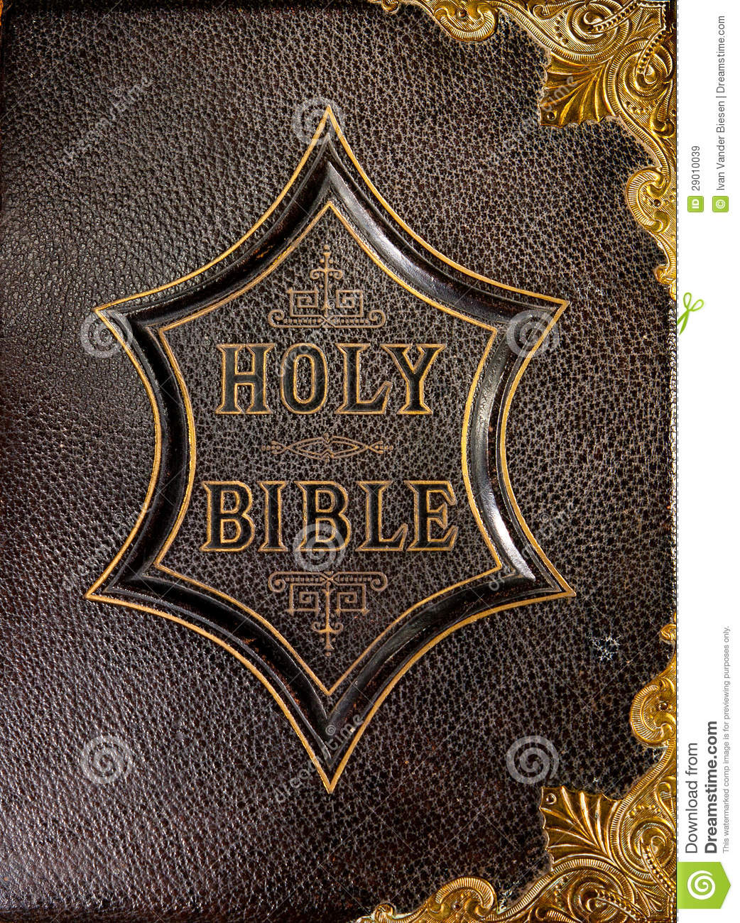 Leather Book Cover Holy Bible Stock Image
