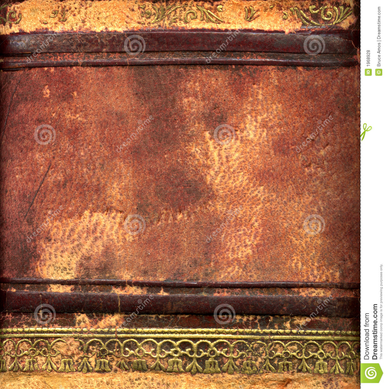 Leather Bound Book Detail Royalty Free Stock Photos