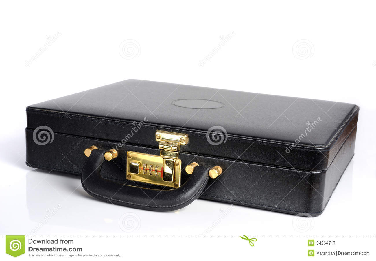Leather Briefcase With Combination Lock Royalty Free Stock ...