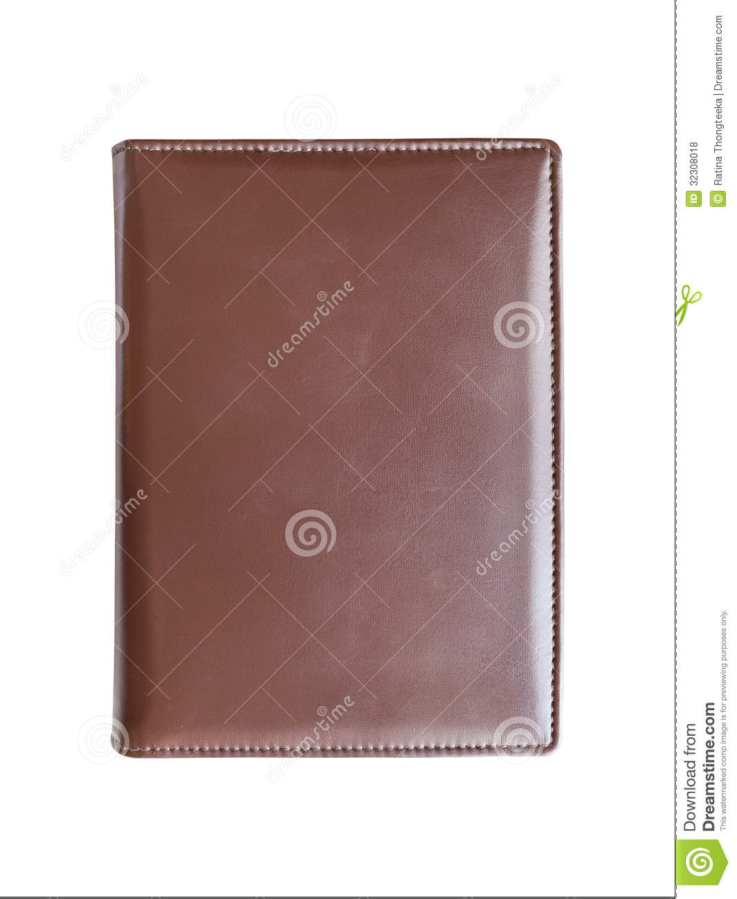 Book Cover White Zip : Leather brown book cover stock photo image of closeup