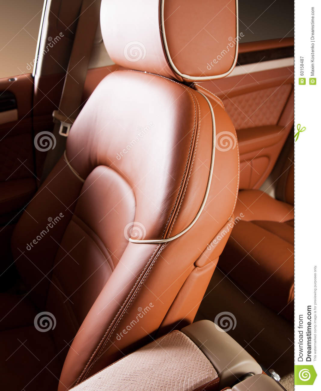 Leather car seat