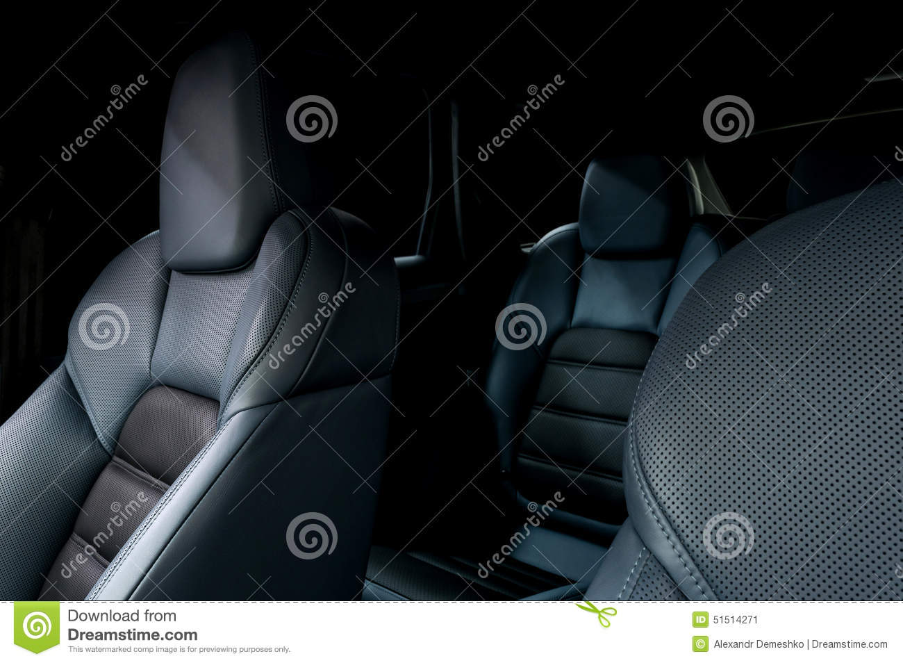 leather car seats royalty free stock image 70302604. Black Bedroom Furniture Sets. Home Design Ideas
