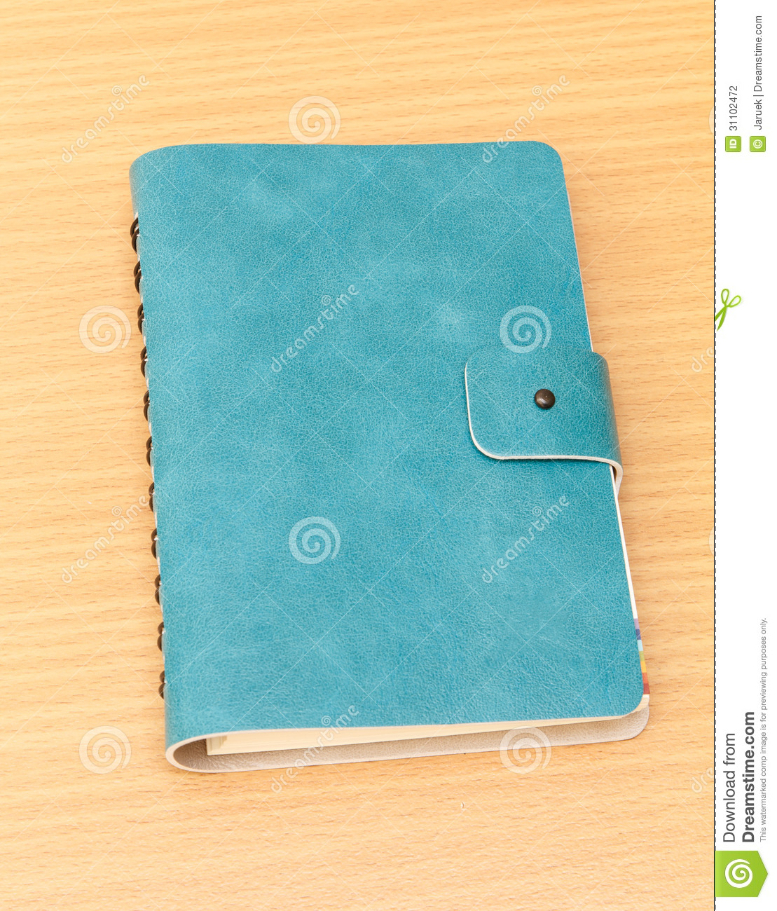 Notebook Cover Background : Leather cover of green notebook stock photography image