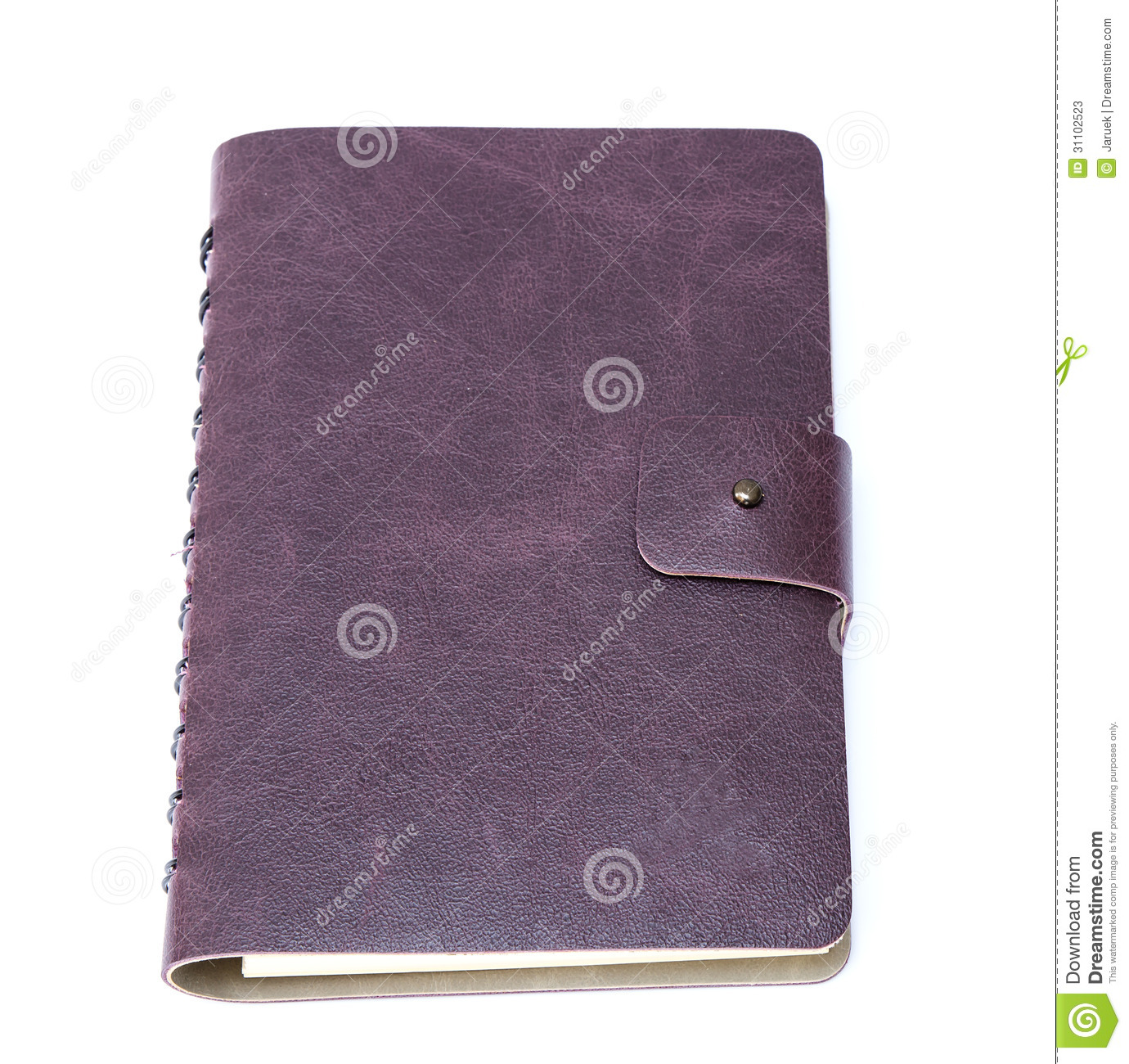 Notebook Cover Background : Leather cover of green notebook stock photos image