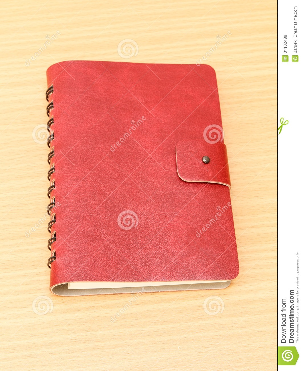 Notebook Cover Background : Leather cover of red notebook royalty free stock images
