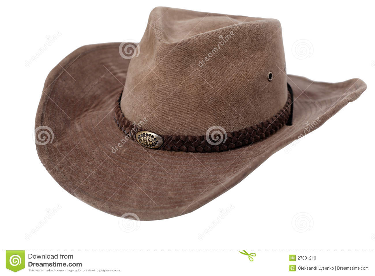 2dce947e88725 Leather Cowboy Hat Isolated Stock Photo - Image of head