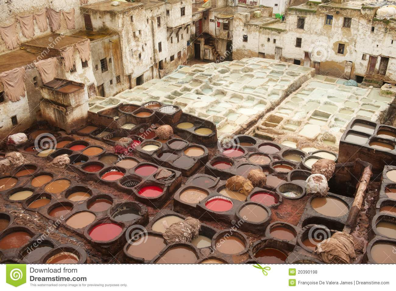 Leather dyeing and tannery pits fez morocco royalty free stock photos image 20390198 - Resource com verven ...