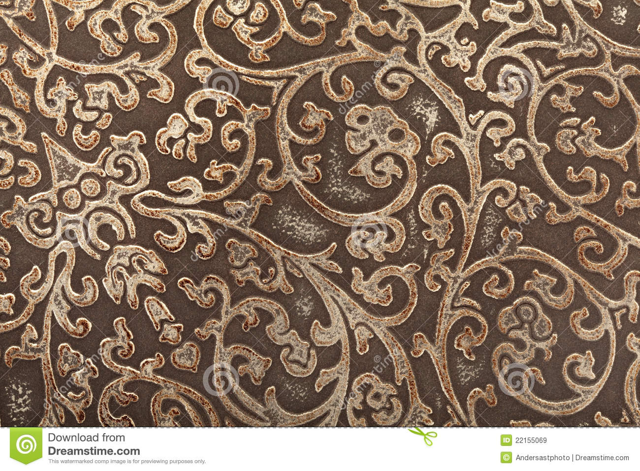 Leather Floral Pattern Background Stock Image - Image of