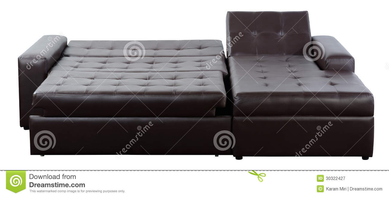 Leather Futon. Isolated Royalty Free Stock Photography - Image ...