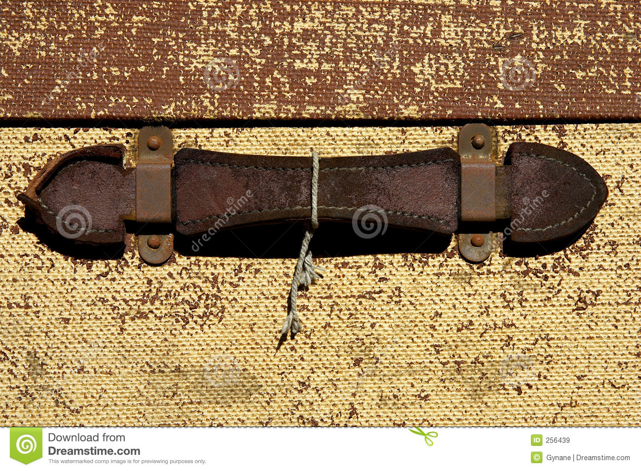Old Leather Suitcase With Handle Stock Photo - Image: 256440