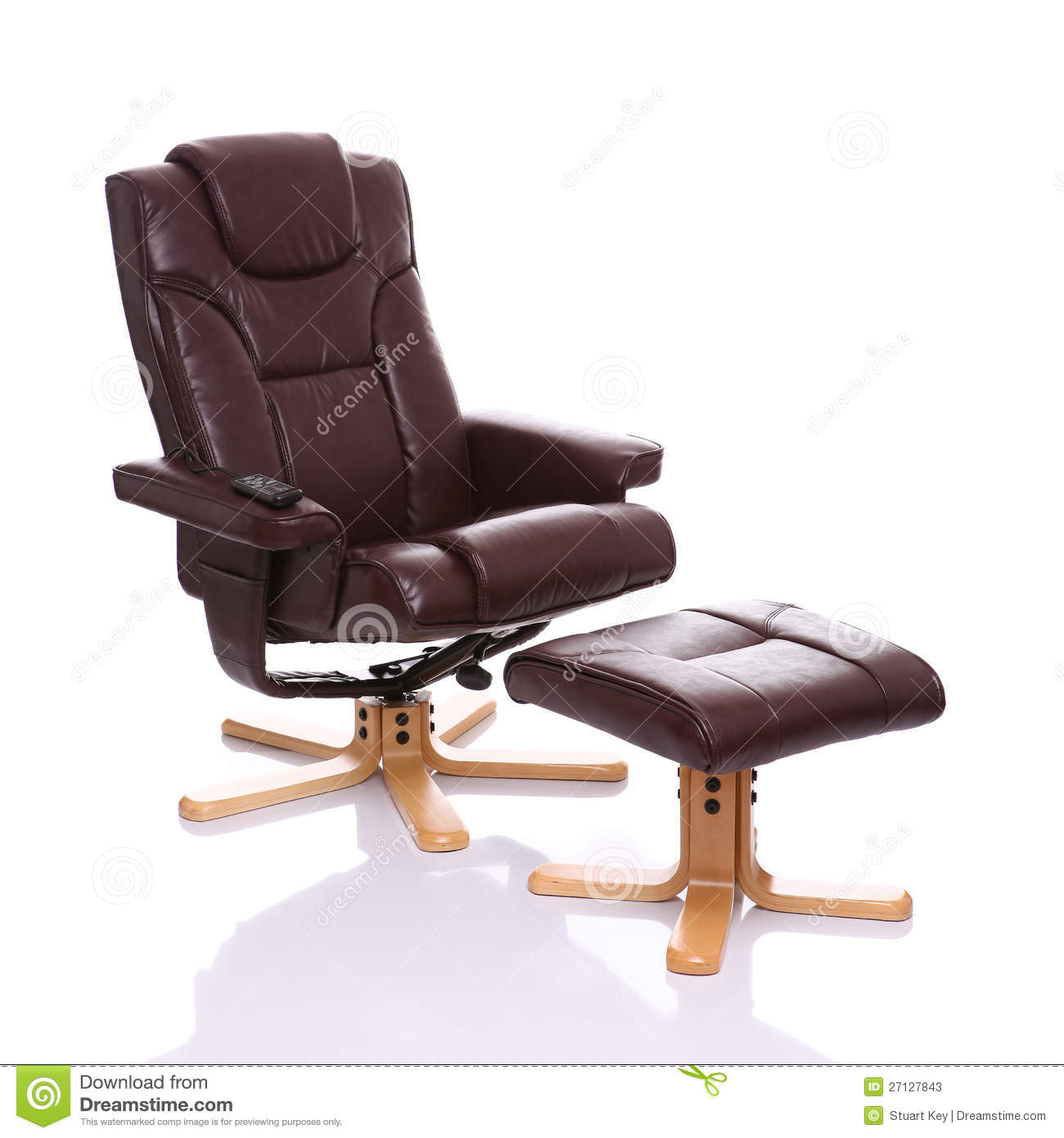 Royalty-Free Stock Photo. Download Leather Heated Recliner Chair With Footstool ...  sc 1 st  Dreamstime.com & Leather Heated Recliner Chair With Footstool Stock Photos - Image ... islam-shia.org
