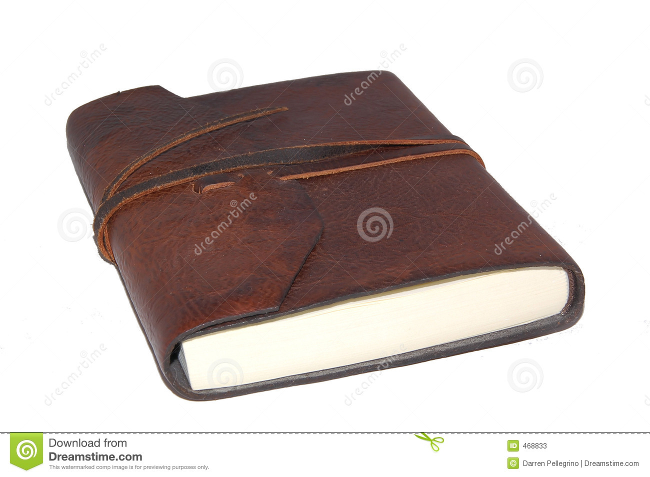 Download Leather Notebook stock image. Image of journal, leather - 468833