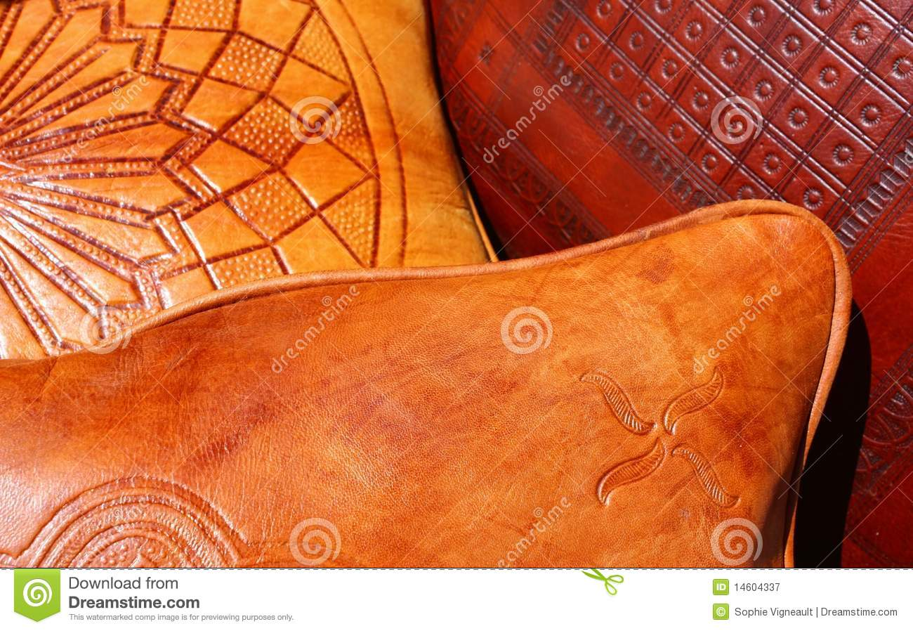 Leather Pillows Royalty Free Stock Photography Image