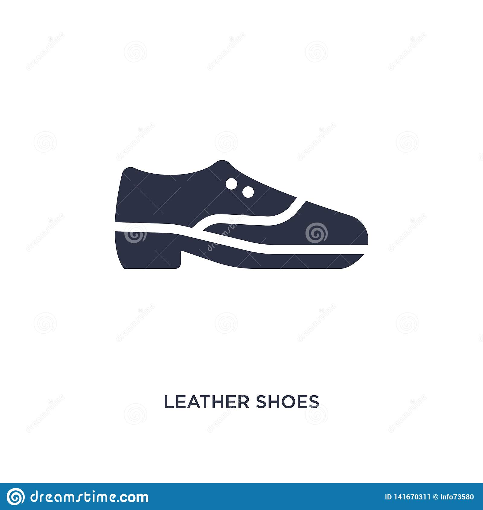 leather shoes icon on white background. Simple element illustration from clothes concept