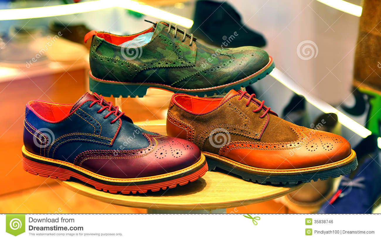 Mens Colorful Oxford Shoes