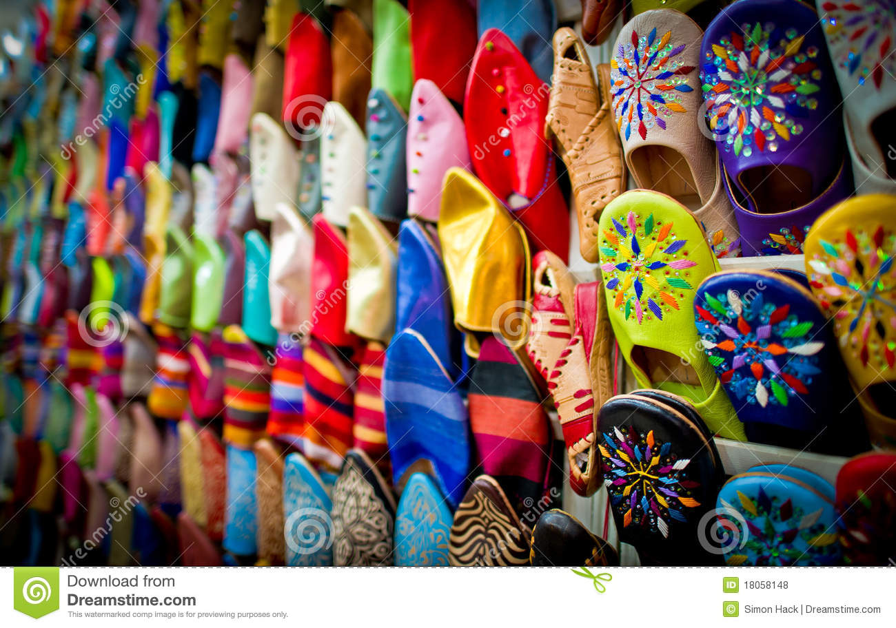 Marrakech Morocco  City new picture : Leather Slippers,marrakech,morocco Royalty Free Stock Photos Image ...