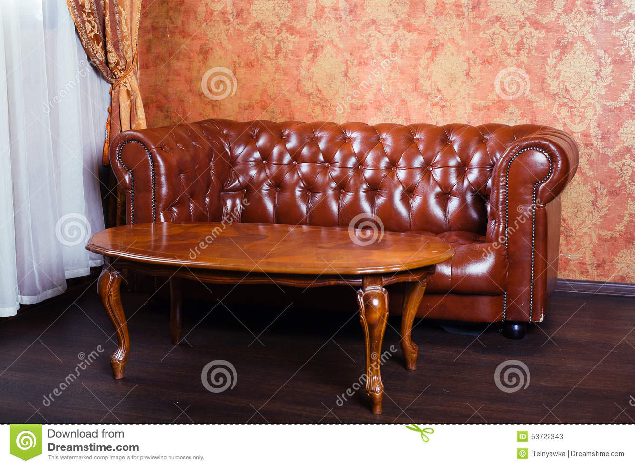 Leather Sofa Vintage Style Luxury Interior Stock Photo  : leather sofa vintage style luxury interior 53722343 from dreamstime.com size 1300 x 957 jpeg 203kB