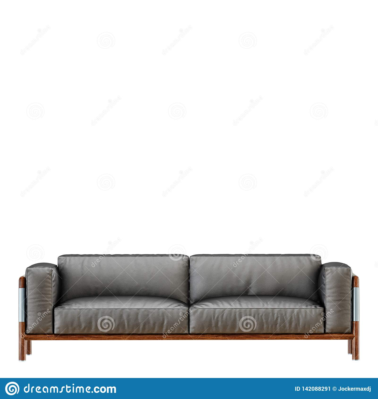 Fine Leather Soft Black Sofa With Folds On A White Background 3D Ocoug Best Dining Table And Chair Ideas Images Ocougorg