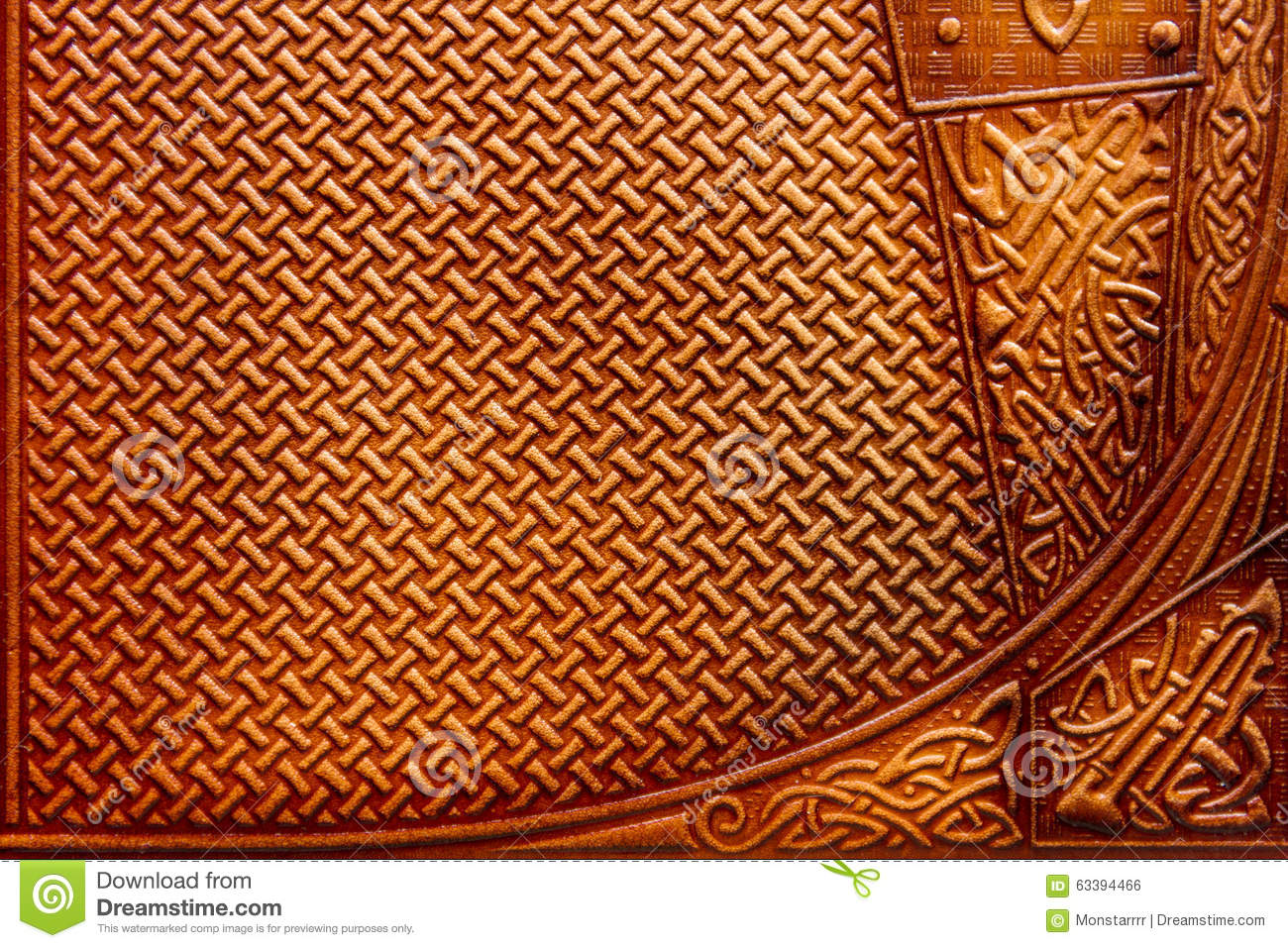 Leather With Stamping Ornament