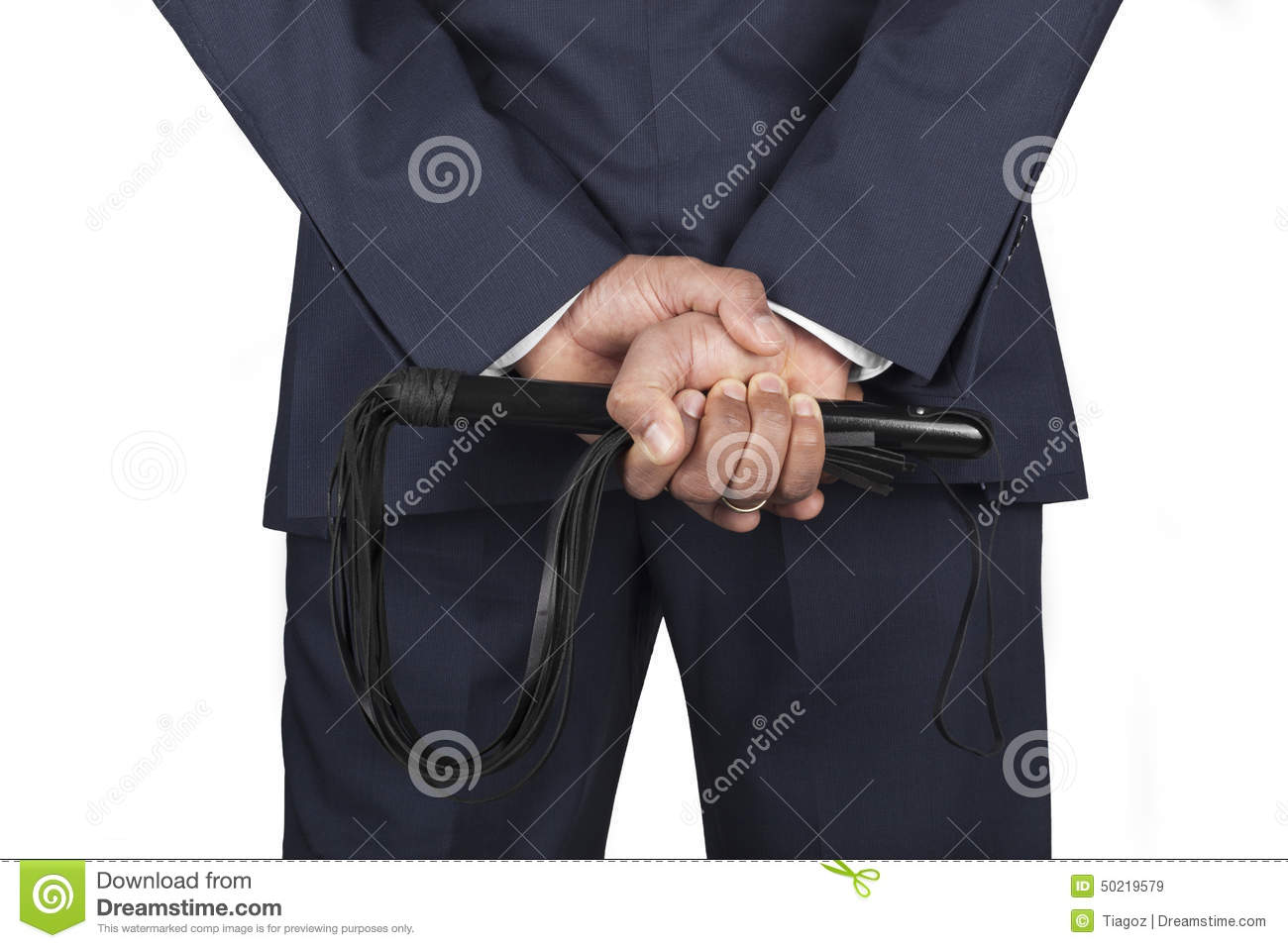 Leather Whip Held By Dominant Master In A Suit Stock Image ... Dominant Man In Suit