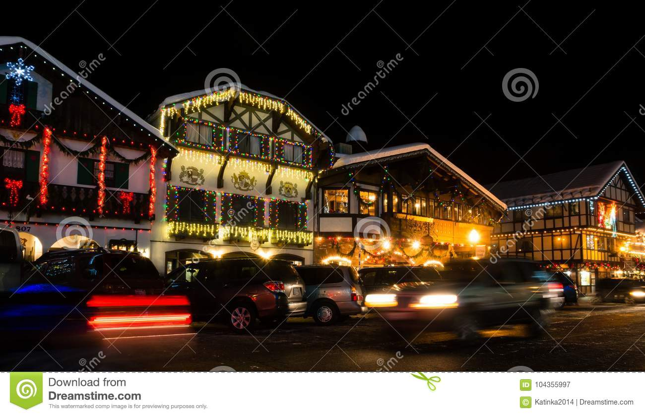 download christmas light up in leavenworth wa editorial photography image of celebration village