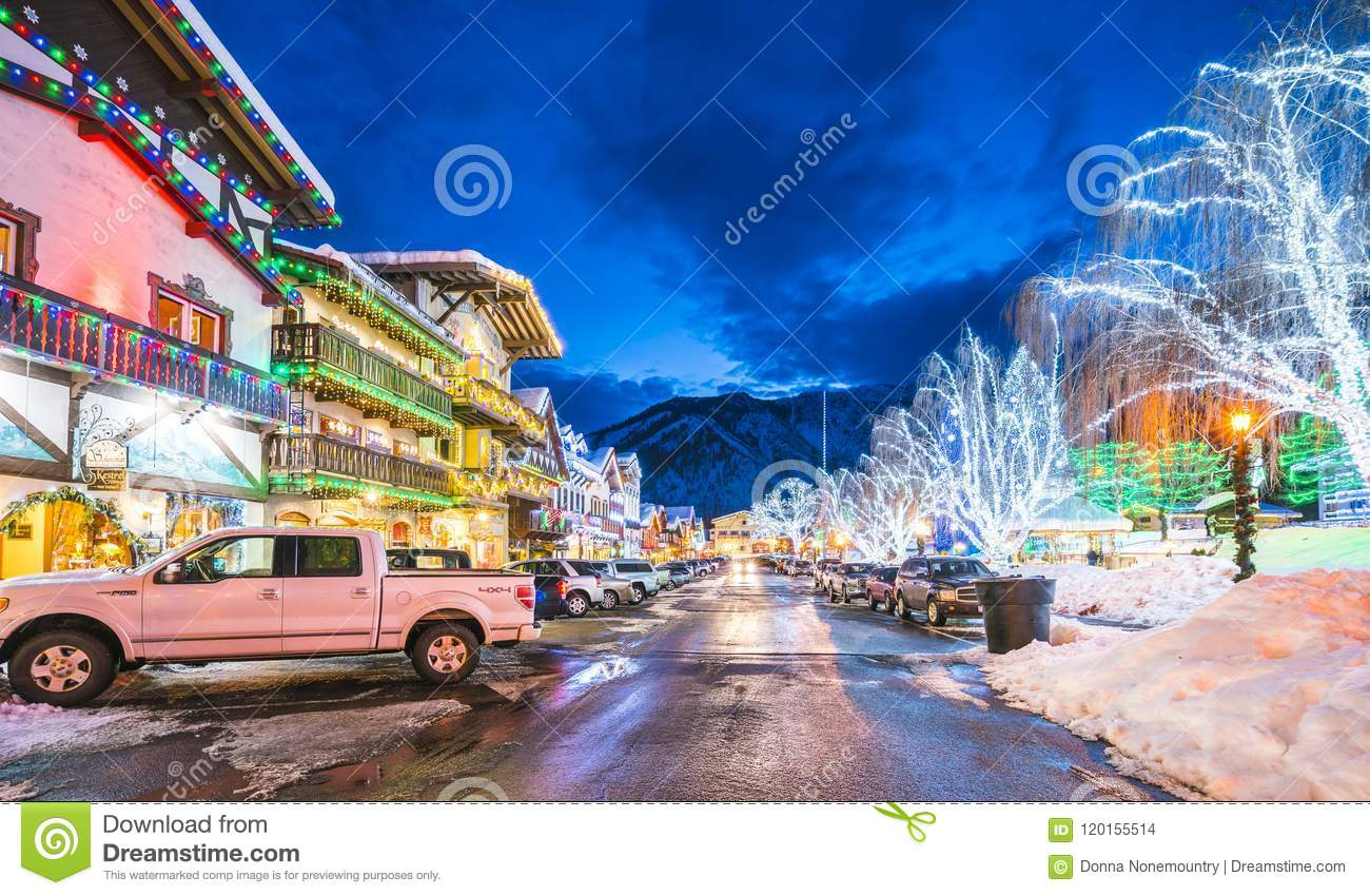 Leavenworth Washington, USA -02/14/16: härlig leavenworth med
