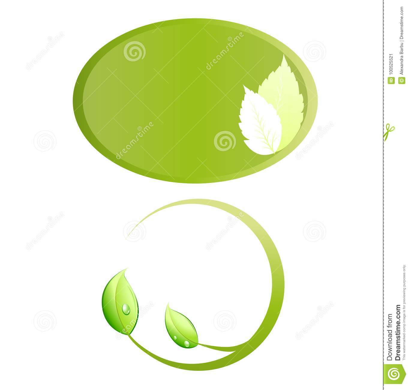 Leaves ecology logo frame vector