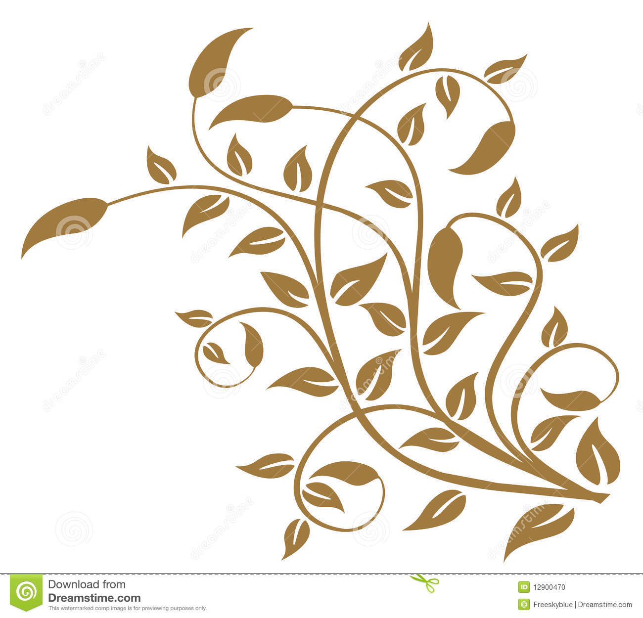 Leaves And Vines Pattern Stock Photo Image 12900470