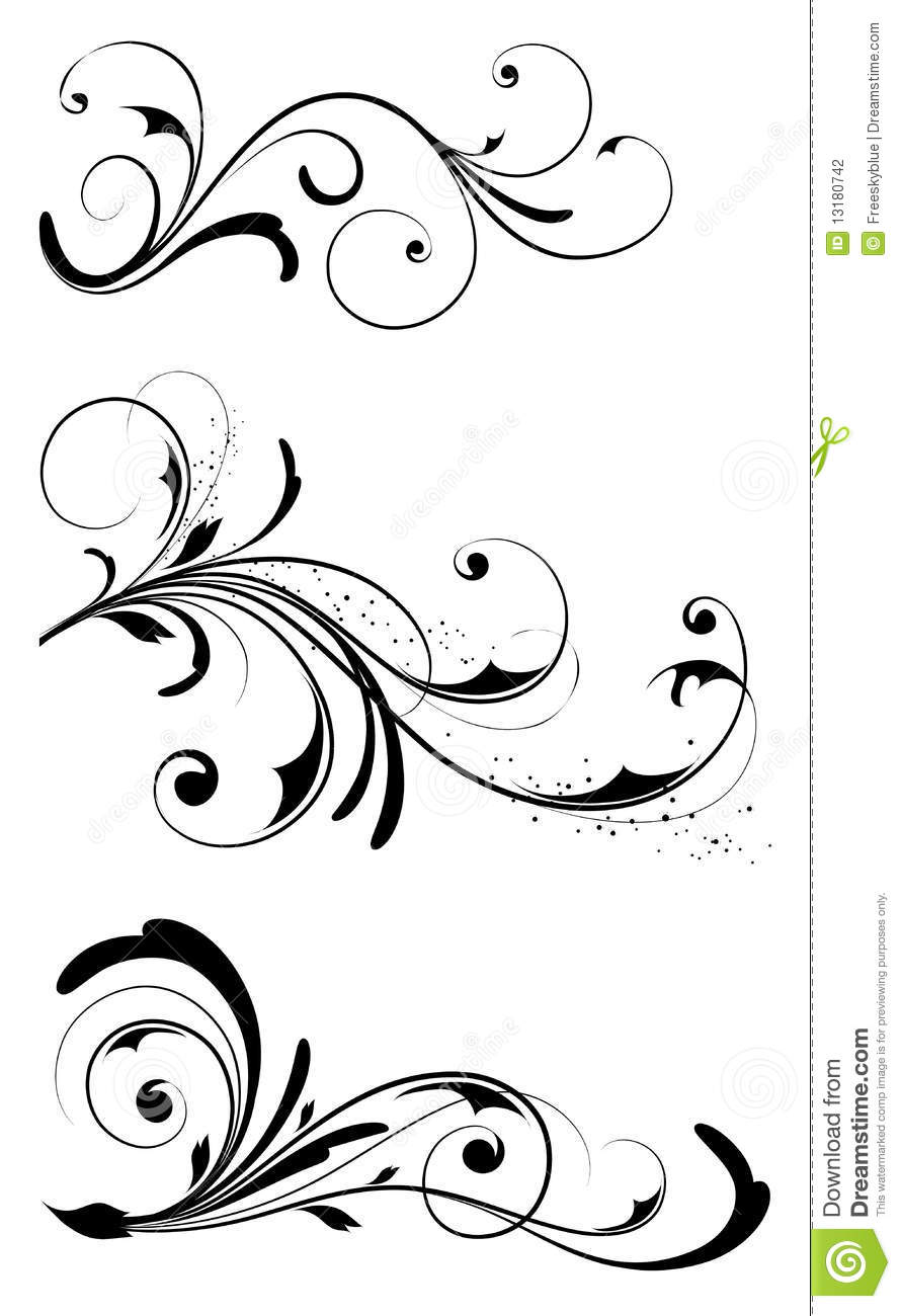 Leaves And Vines Pattern Stock Photography Image 13180742