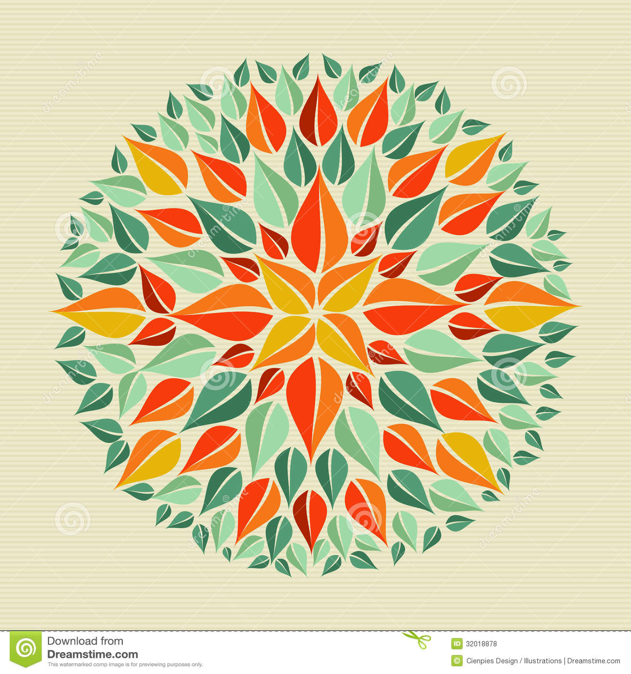 Leaves Yoga Mandala Stock Vector. Image Of Decor, Mystery
