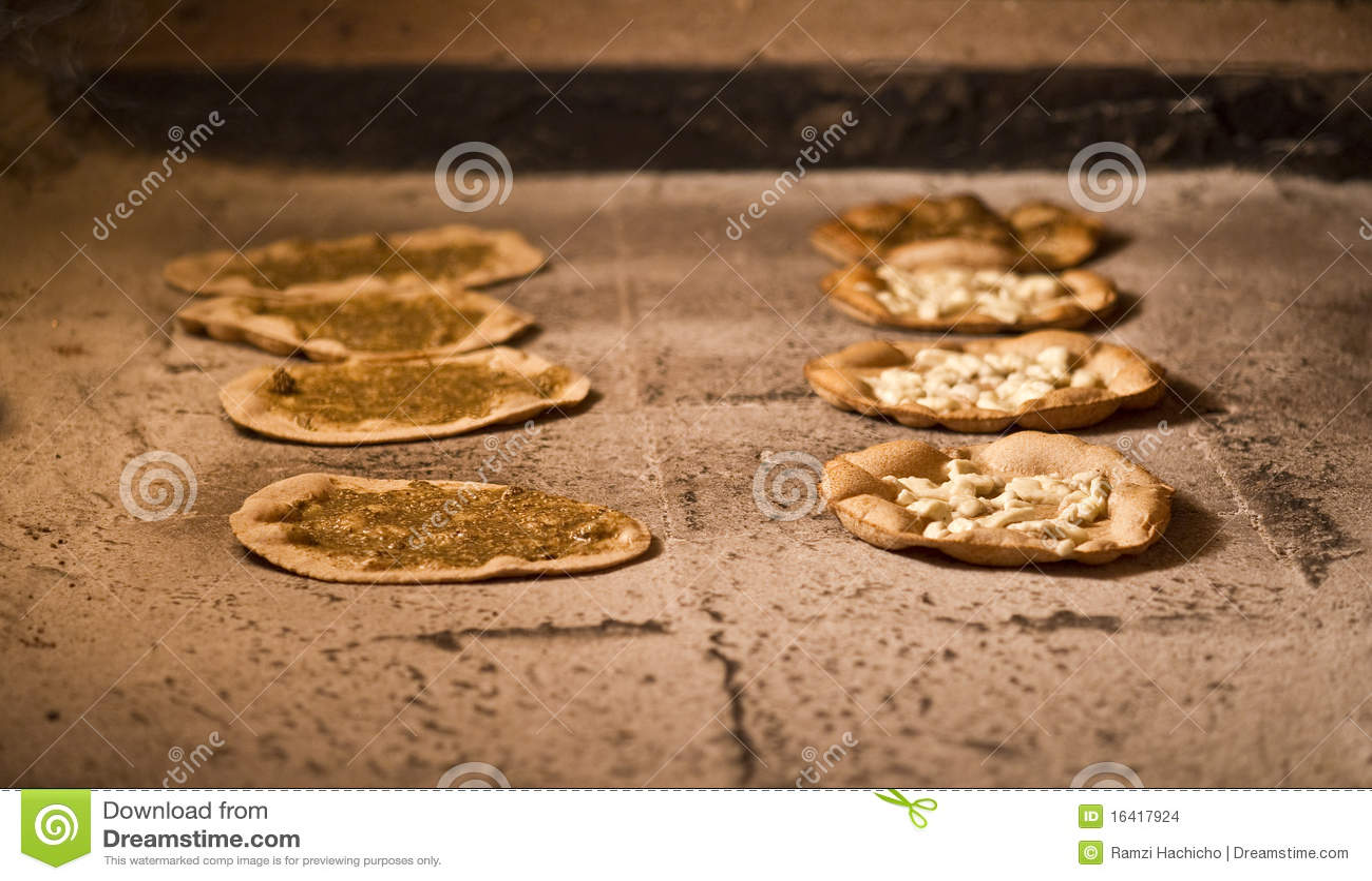 Lebanese manakish / oriental food for breakfast ba