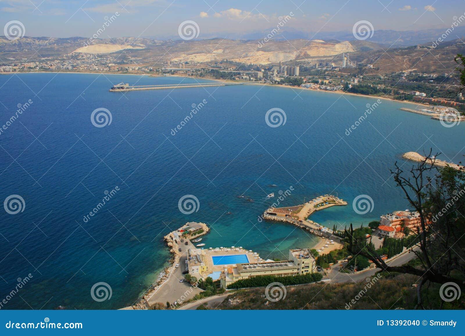 Lebanon norr over tripoli sikt