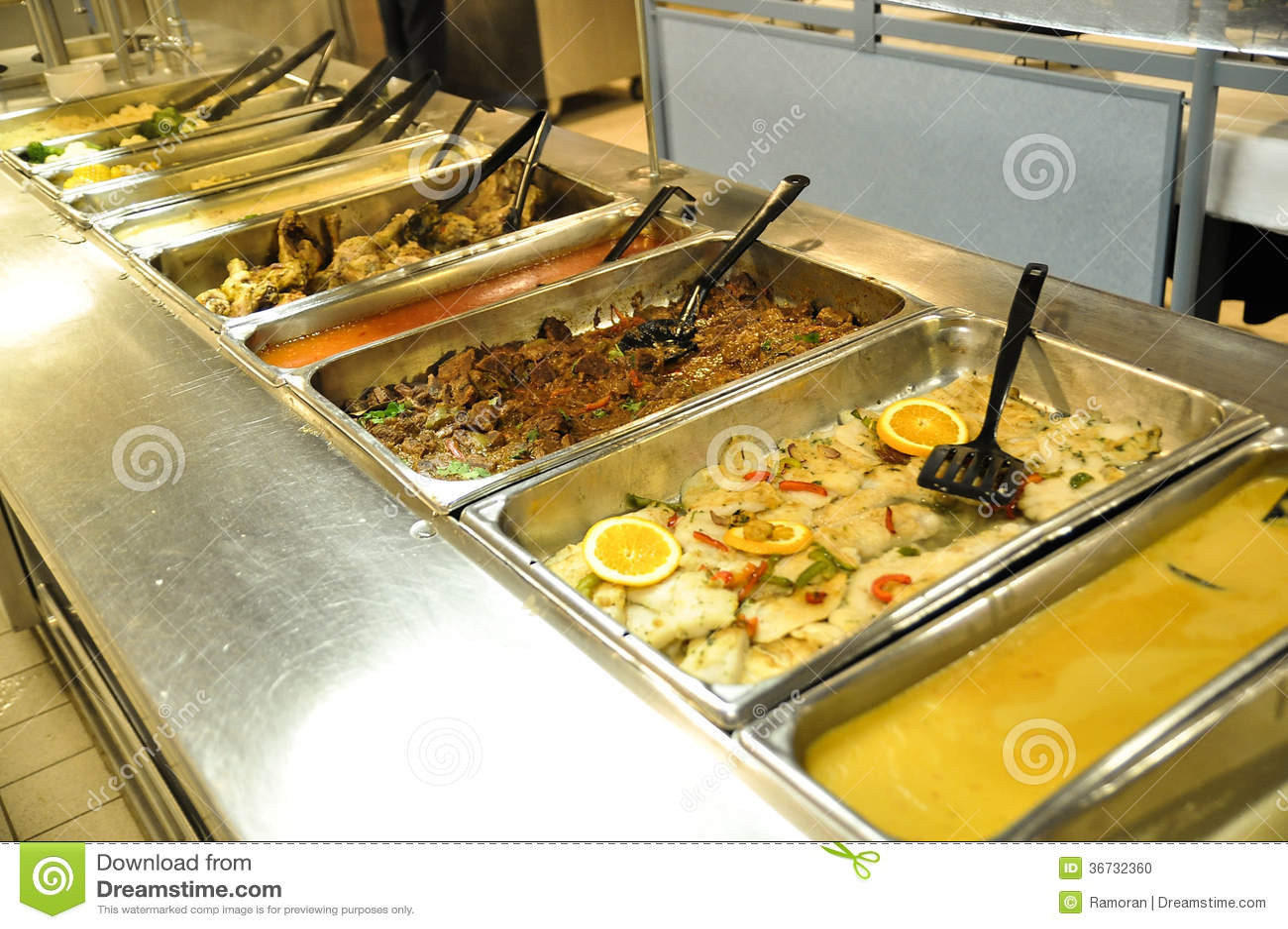 Lebensmittel-Buffet