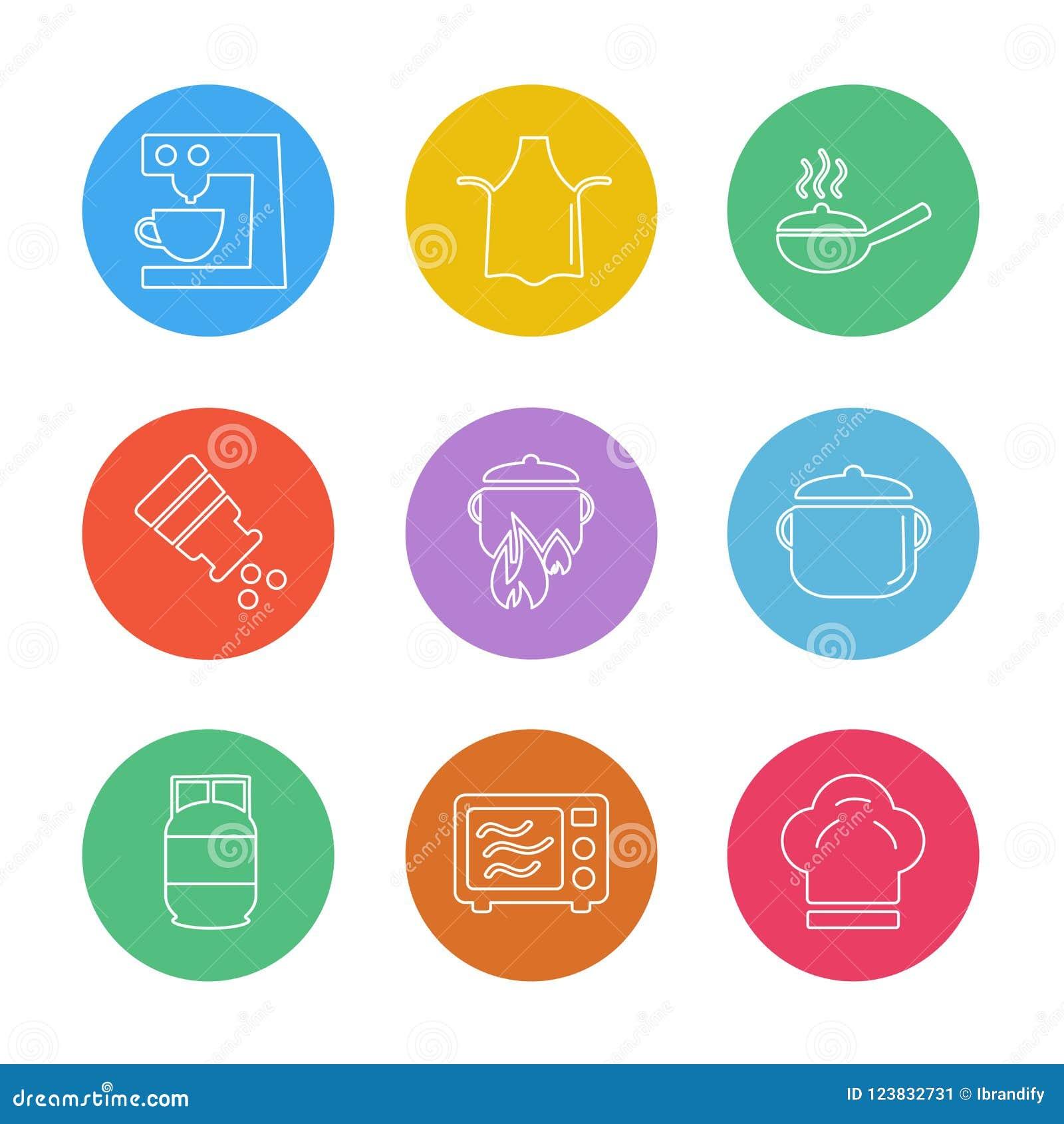 Lebensmittel, die Gesundheit, gesund, Mahlzeit, Getränke, ENV-Ikonen stellte Vektor ein
