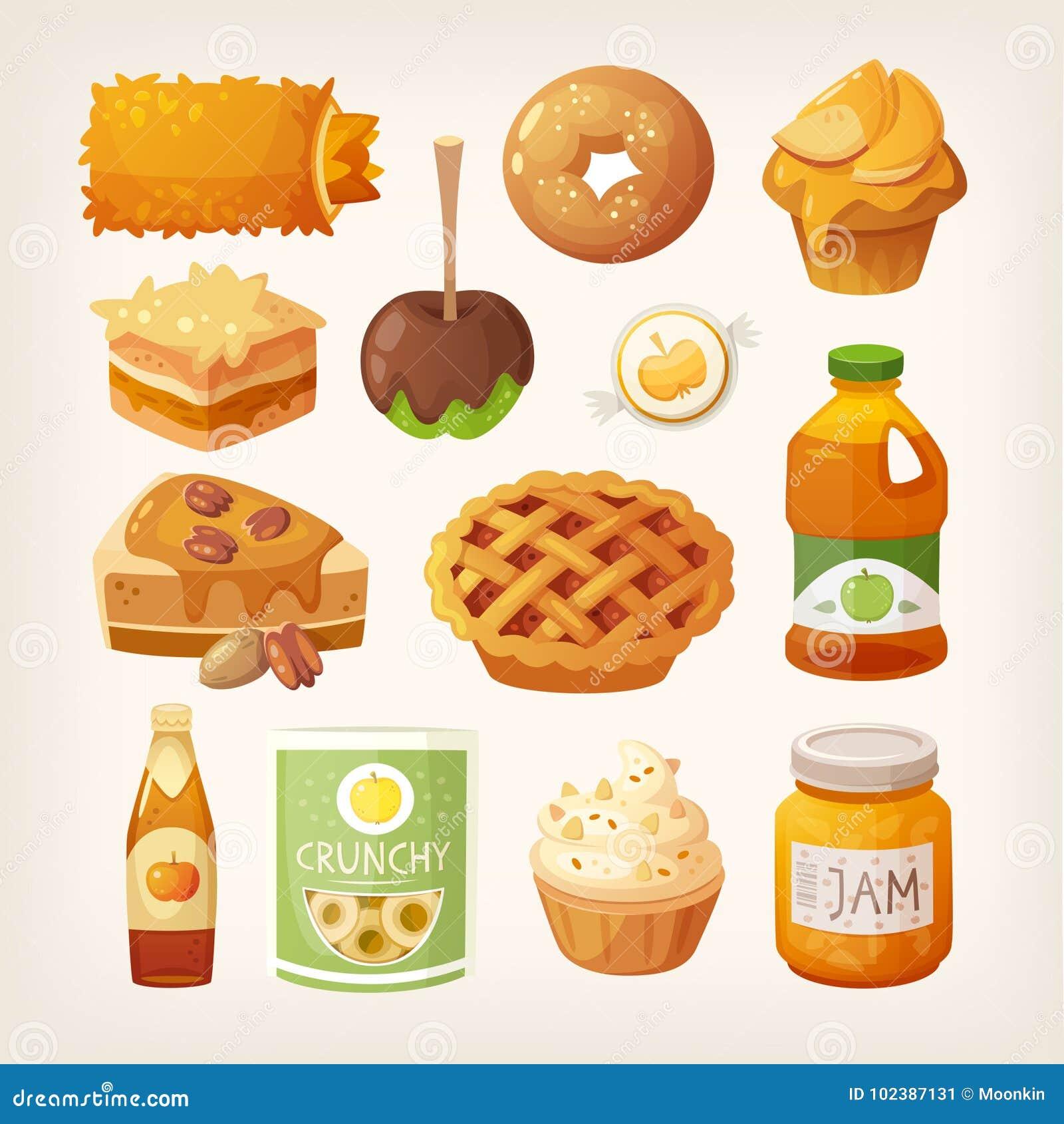 Lebensmittel gemacht von den Äpfeln