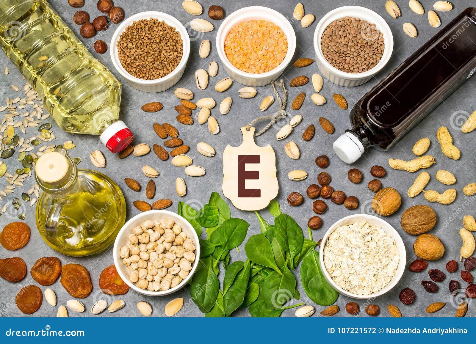 Lebensmittel ist Quelle von Vitamin E
