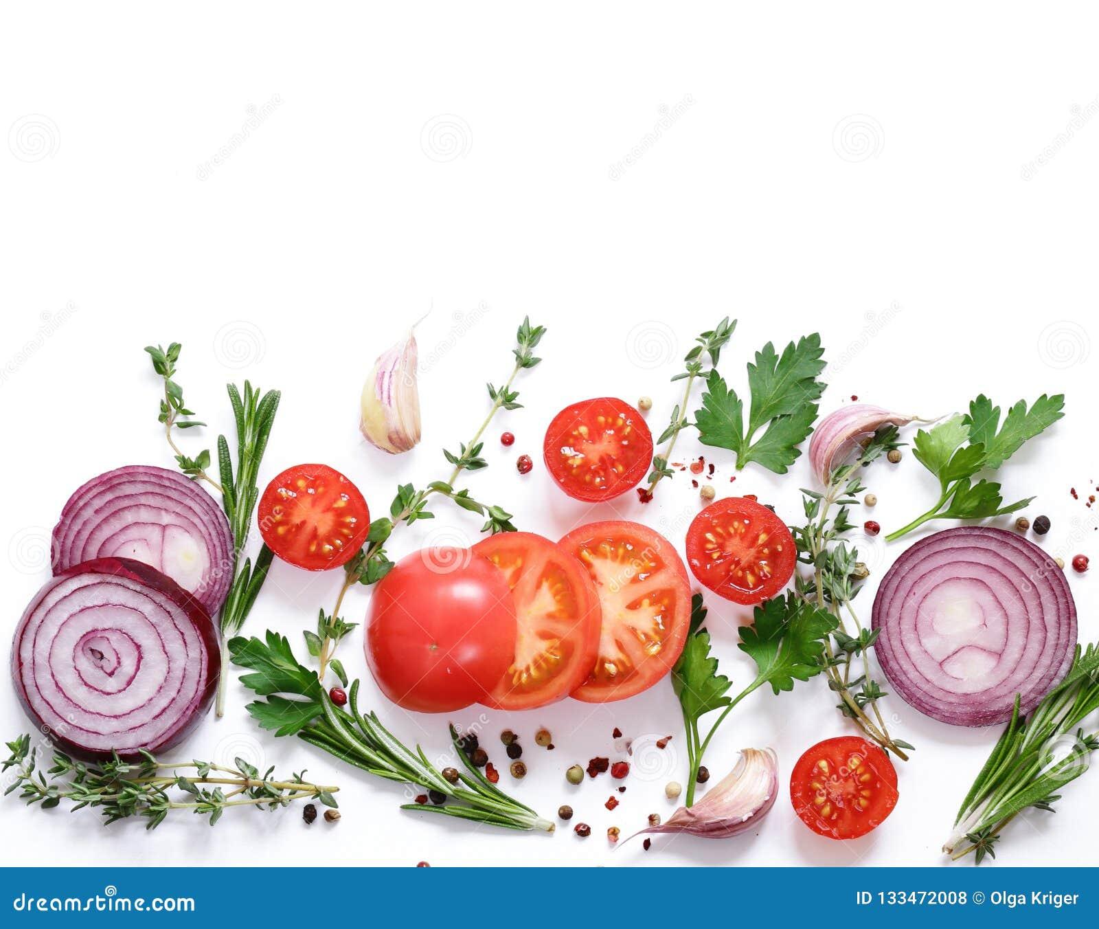 Lebensmittelhintergrund, -kräuter und -gewürze