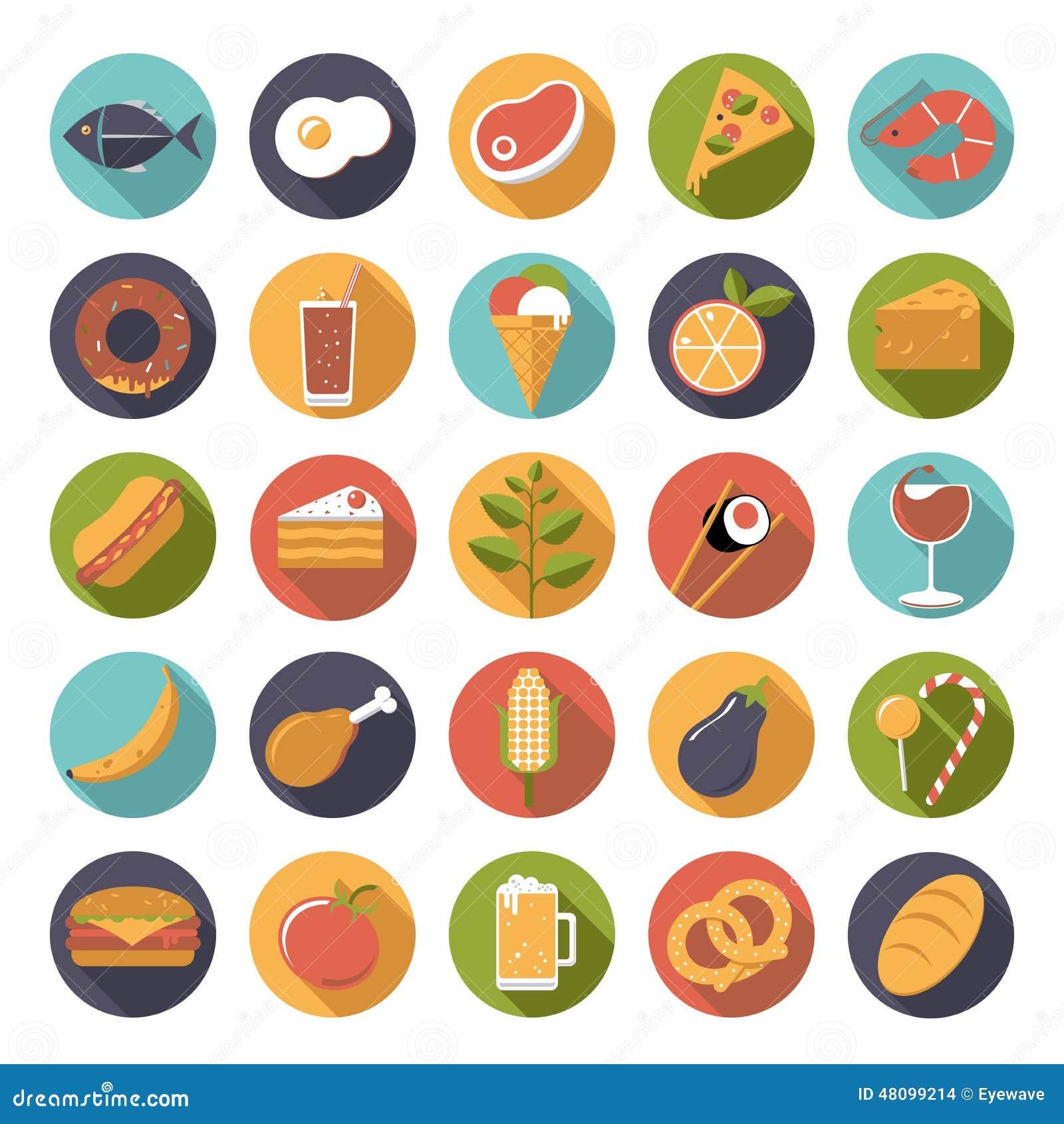Lebensmittelikonen-Vektorsatz