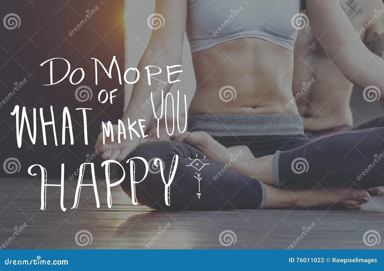 Lebensstil-positives Gedanken-Sinnesleben-Konzept