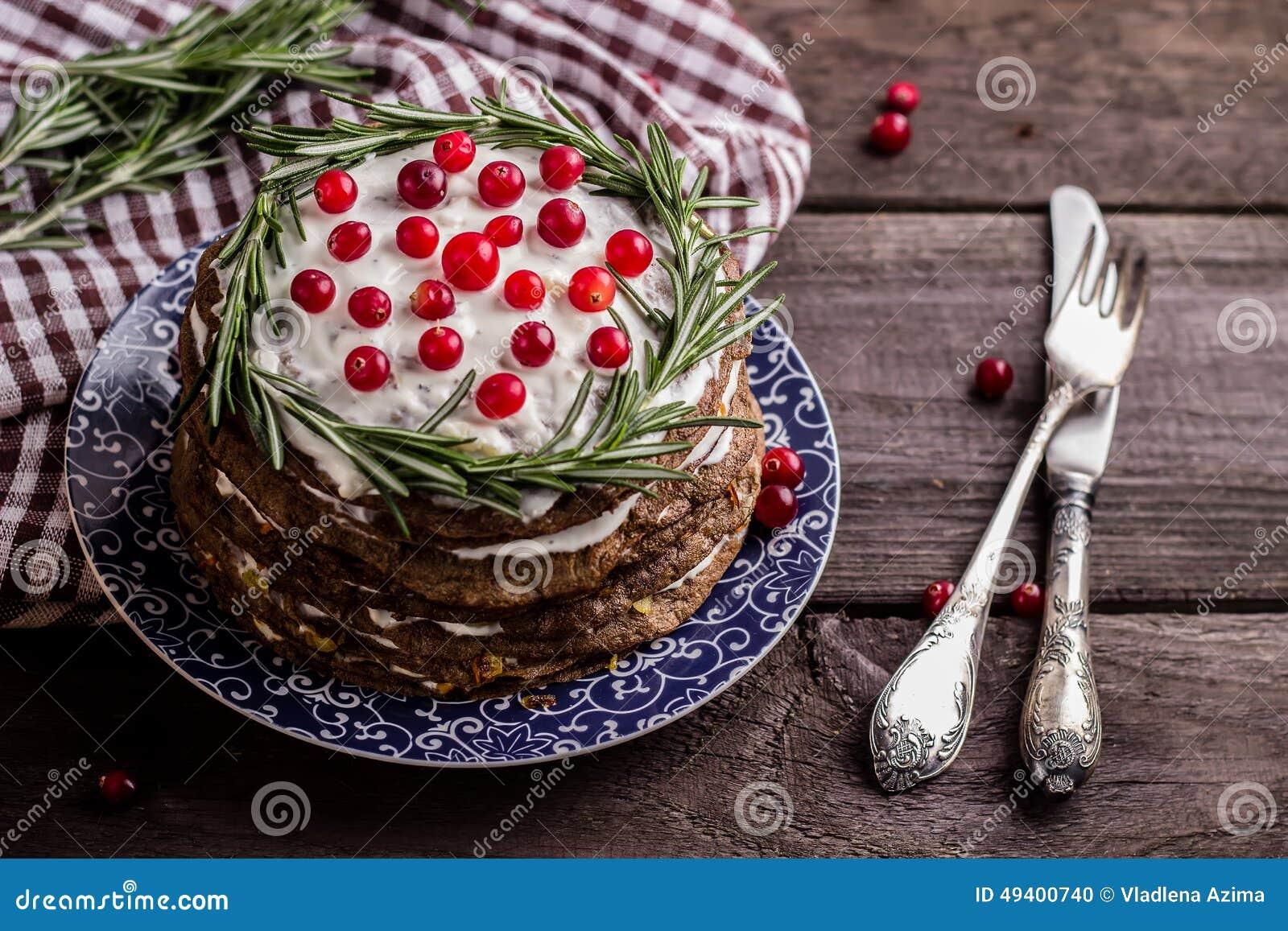 Download Lebertorte stockfoto. Bild von torte, winter, tabelle - 49400740