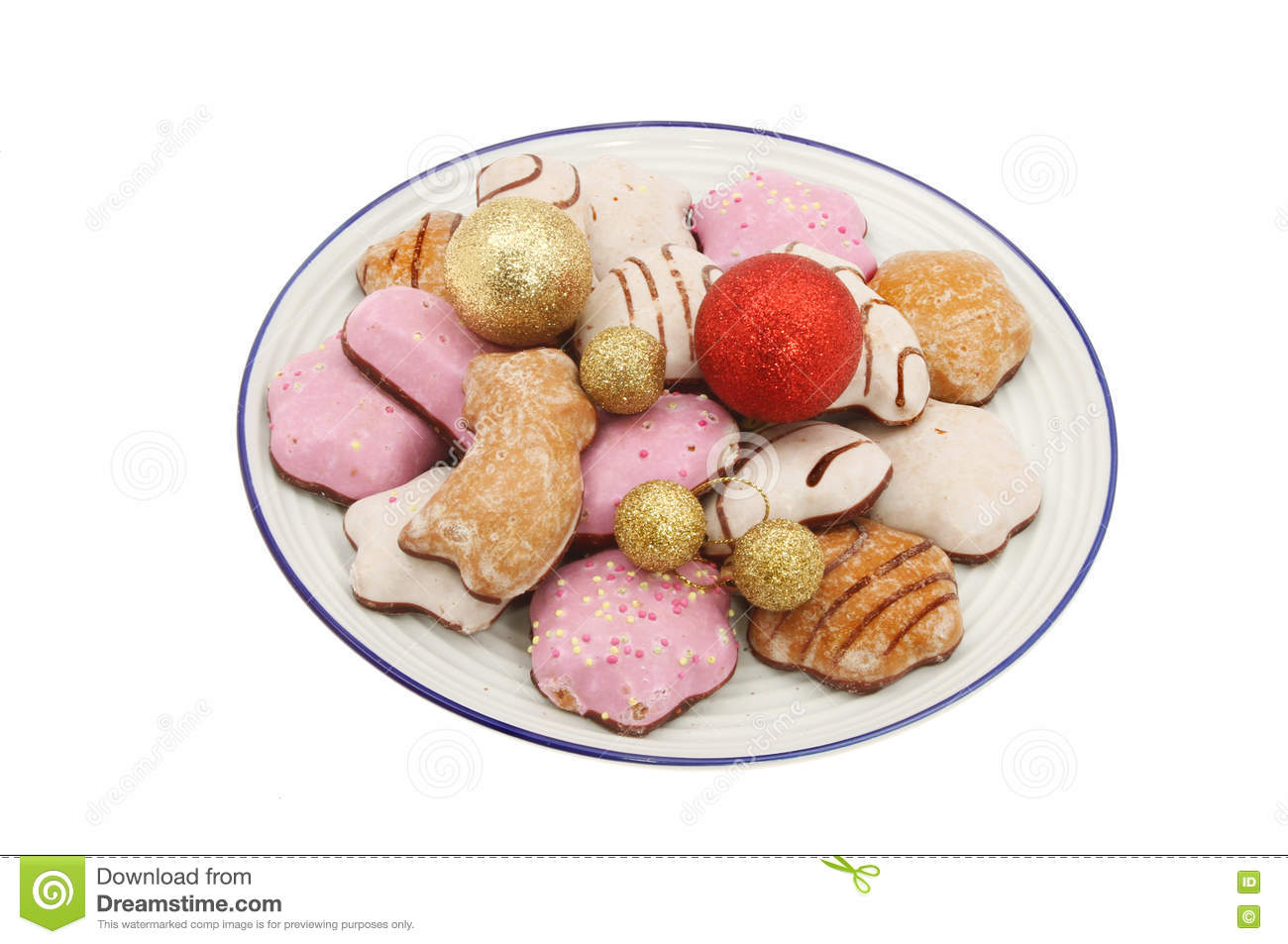 Lebkuchen With Baubles Stock Photo Image Of Iced Decoration 79939110