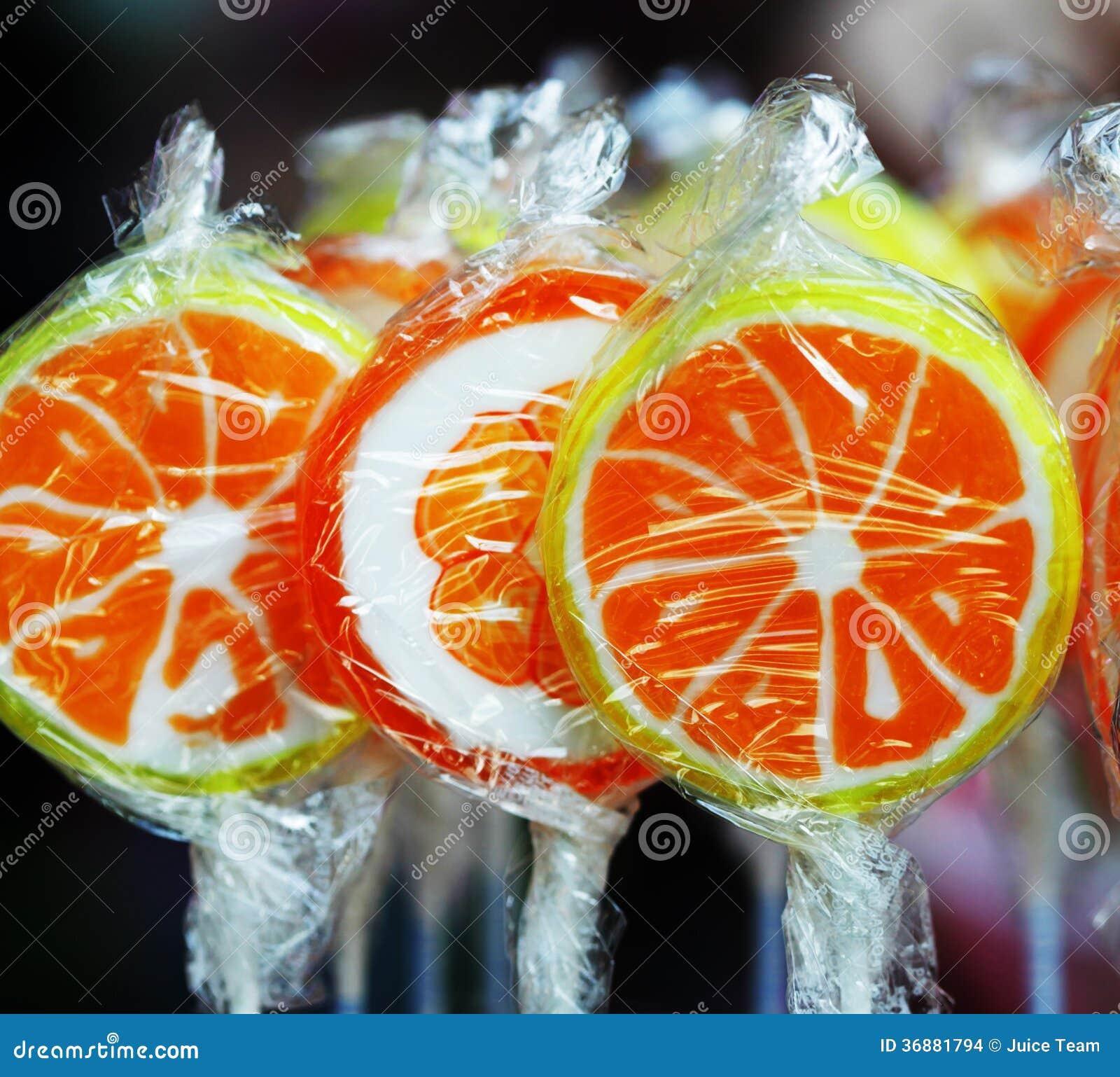 Download Lecca-lecca arancio fotografia stock. Immagine di confezione - 36881794
