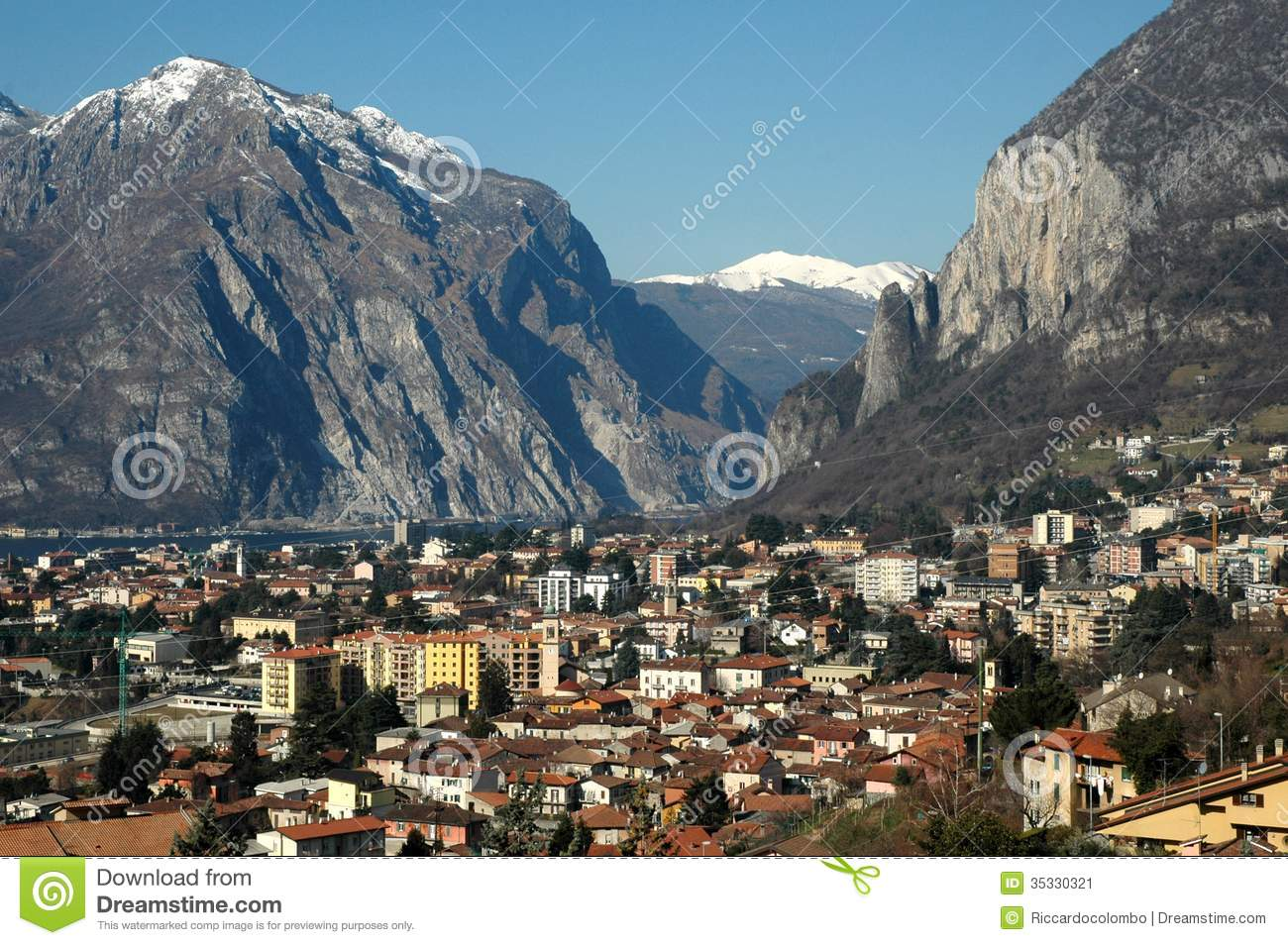 Lecco Italy  City new picture : Lecco italian village near mountains on Como Lake. Lombardy, Italy.